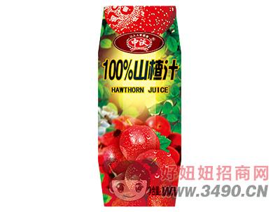 中沃100%山楂汁250ml