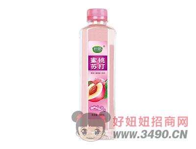 世鸿蜜桃苏打果味饮料400ml