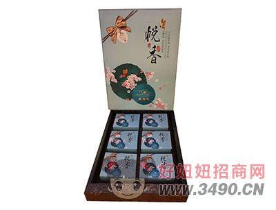 悦香月饼礼盒蓝