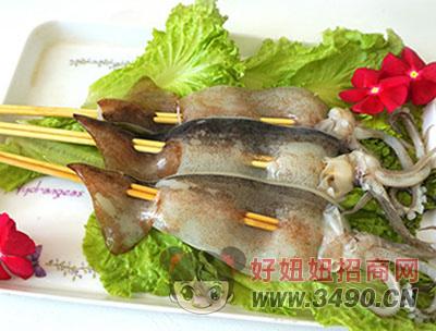 鱿鱼板串-喜洋洋
