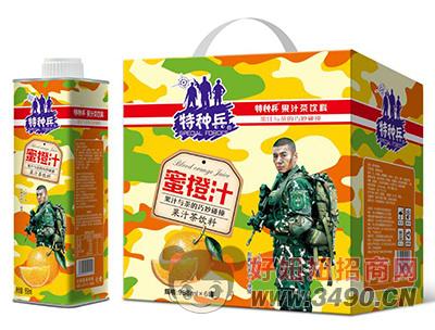 特种兵蜜橙汁果汁茶饮料958ml×6罐