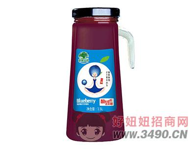 淇果庄园蓝莓汁1.5l(手把)