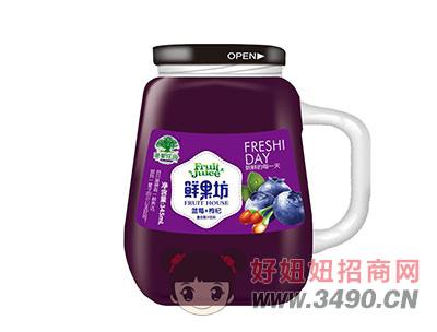 淇果庄园鲜果坊蓝莓+枸杞复合果汁345ml