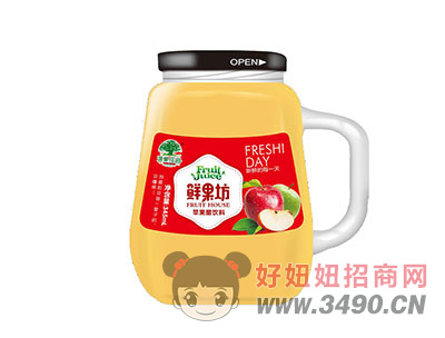 淇果庄园鲜果坊苹果醋345ml
