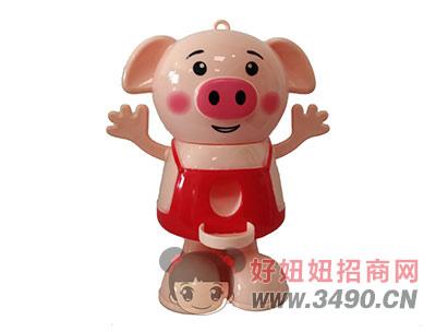 优卡乐萌萌扭糖猪儿童玩具红