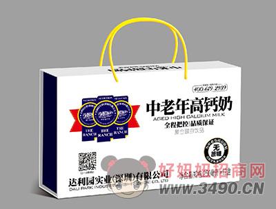 达利园中老年高钙奶250毫升X12盒