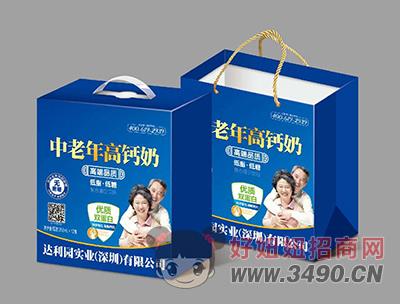 达利园中老年高钙奶250mlX12盒