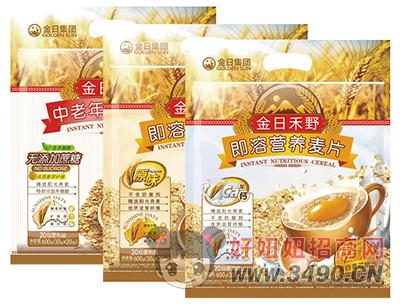 金日禾野即溶营养麦片600g