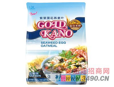 金日禾野盐鲜味紫菜蛋花燕麦片450g
