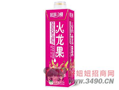 浪漫之椰火龙果汁饮料1L