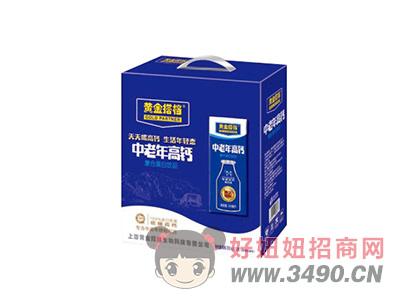 黄金搭档中老年高钙复合蛋白饮品250mlX12盒