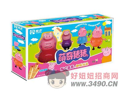 萌奇猪猪(蓝色)酥心蛋卷+玩具40gX40盒