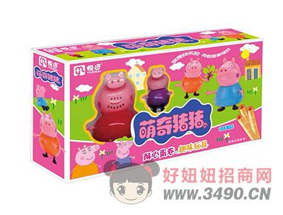 萌奇猪猪(粉色)酥心蛋卷+玩具40gX40盒