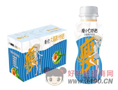 瘦小白奶昔大麦青汁奶昔饮品340gX10瓶