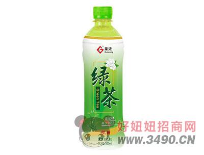 果浓绿茶调味茶饮料500mlx15瓶
