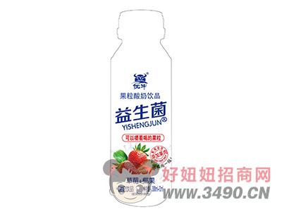 优牛益生菌黄桃椰果果粒酸奶饮品310ml