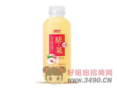 明好酵果白桃果汁饮料450ml