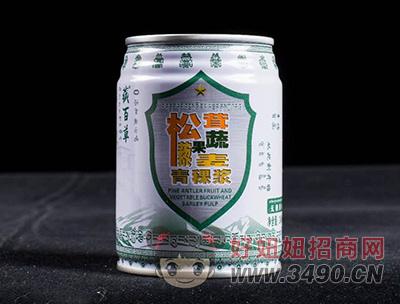 藏百草青稞浆无糖原味易拉罐