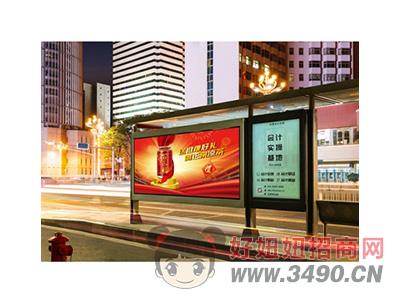 百乐福公交站牌广告