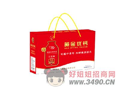 黄金优钙无蔗糖风味饮品250mlX12盒