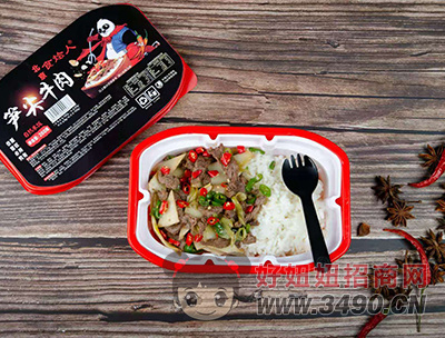 北京食烩人笋尖牛肉自热米饭