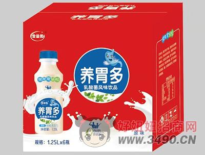合益优原味养胃多乳酸菌1.25L×6瓶礼盒装