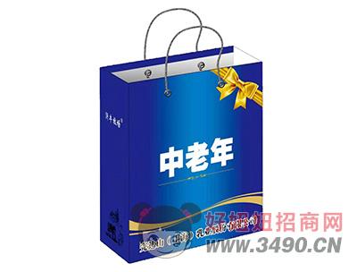 中老年蓝色礼盒