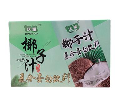 庆耀椰子汁复合蛋白饮料箱装