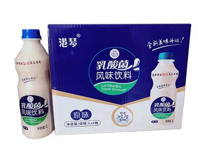 港琴乳酸菌饮品风味1Lx8瓶