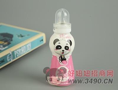 宝宝小贝草莓味乳饮品瓶装正面200ml