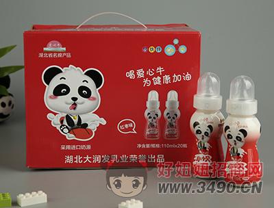 小小贝红枣味儿童成长型乳饮品110ml×20瓶礼盒