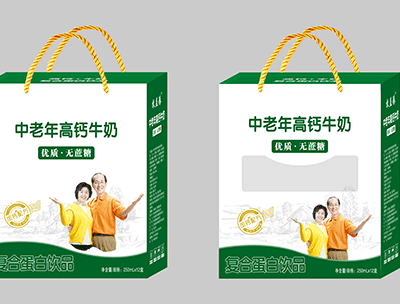 牧益臻中老年高钙牛奶复合蛋白饮品礼盒装
