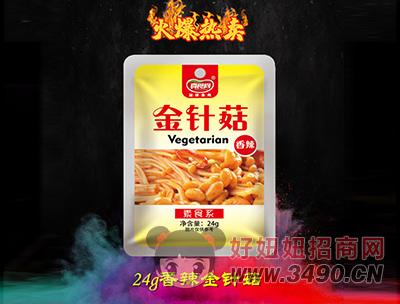 真食尚香辣金针菇24g