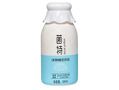 菌特�l酵酸奶�品�J�C椰果340ml