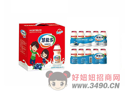 慧能多乳酸菌lehu国际app下载蓝莓味(礼盒)100mlX30