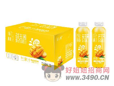 乐朋益生菌芒果汁复合果汁饮料480mlX15瓶