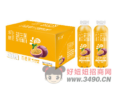 乐朋益生菌百香果复合果汁饮料480mlX15瓶