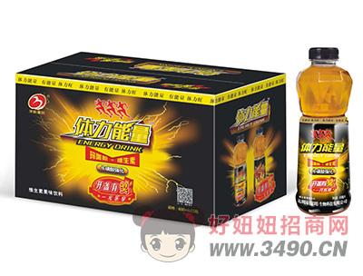 华宝圣园体力能量牛磺酸强化维生素果味饮料600ml×15瓶