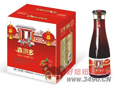 喜事多红枣枸杞复合果汁饮料1.5L×6瓶