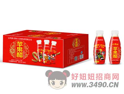 华宝圣园发酵型苹果醋饮料箱装350ml×24瓶