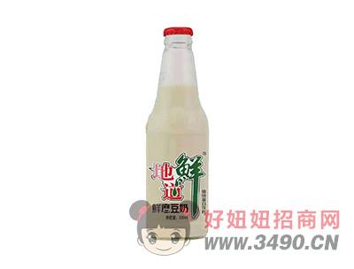 地道鲜鲜磨豆奶植物蛋白饮料300ml