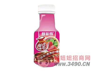柯菲雪草莓+黑加仑+樱桃复合果味饮料330ml