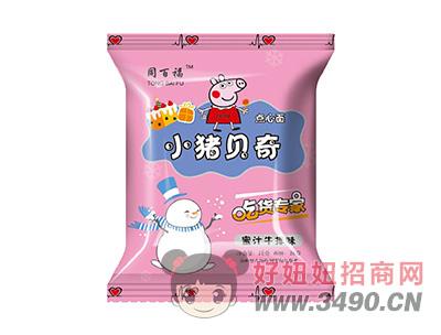 同百福小猪贝奇点心面蜜汁牛排味28g
