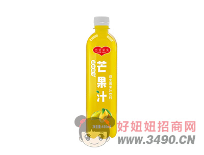 恋爱果实芒果汁益生菌果汁饮料480ml