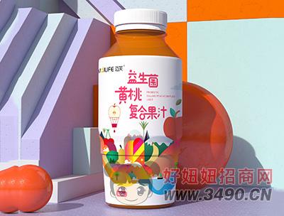 迈芙益生菌黄桃复合果汁饮料480ml