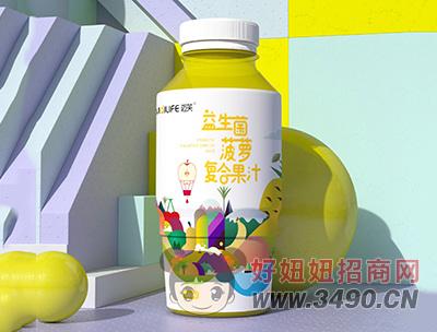 迈芙益生菌菠萝复合果汁饮料480ml