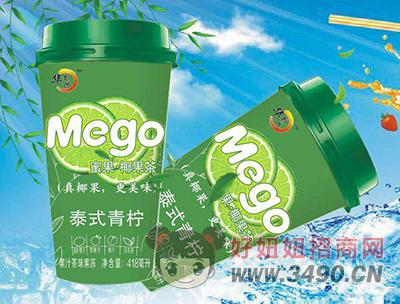 华凯兴泰式青柠果汁茶味果冻418ml