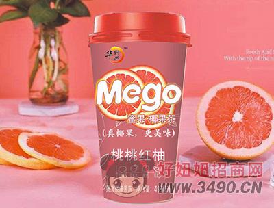 华凯兴桃桃红柚果汁茶味果冻418ml