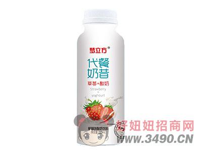 梦立方代餐奶昔草莓味酸奶饮料310ml