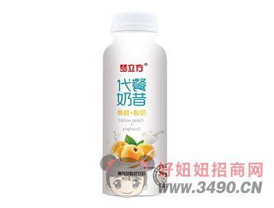 梦立方代餐奶昔黄桃味酸奶饮料310ml